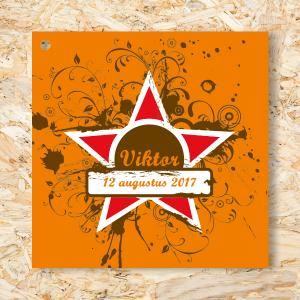 Label 40mm Grunge Star