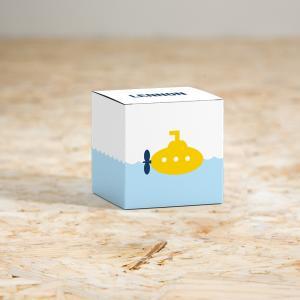 Kubusdoosje gele duikboot