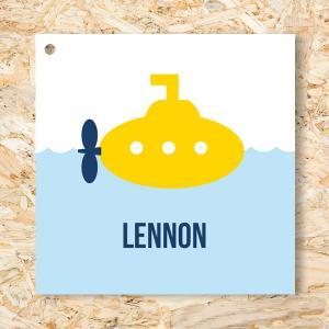 Label 40mm gele duikboot