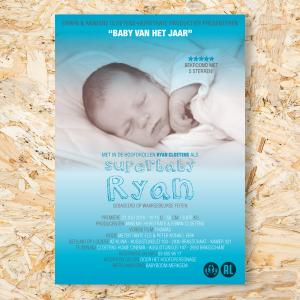 Filmaffiche geboortekaartje