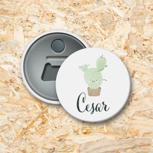 Cactus Button flesopener 56 mm