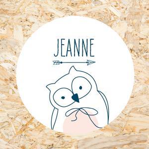 Sticker 40mm baby uiltje meisje