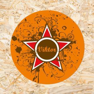 Sticker 40mm Grunge Star