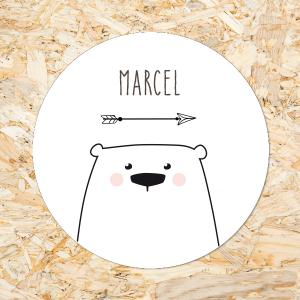 Sticker 40mm Knuffelberen