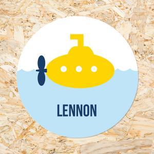 Sticker 40mm gele duikboot