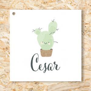 Label 40mm cactus