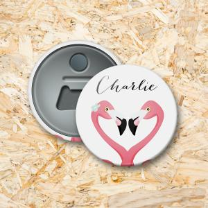 Flamingo Button flesopener 56 mm