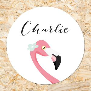 Sticker 50mm Flamingo