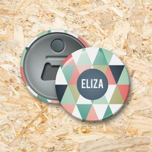 Driehoekjes meisje Button flesopener 56 mm