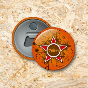 Grunge star Button flesopener 56 mm