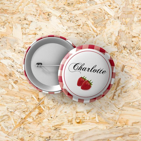 Button speld 37 mm Confituur