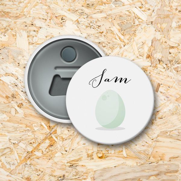 Dino ei Button flesopener 56 mm