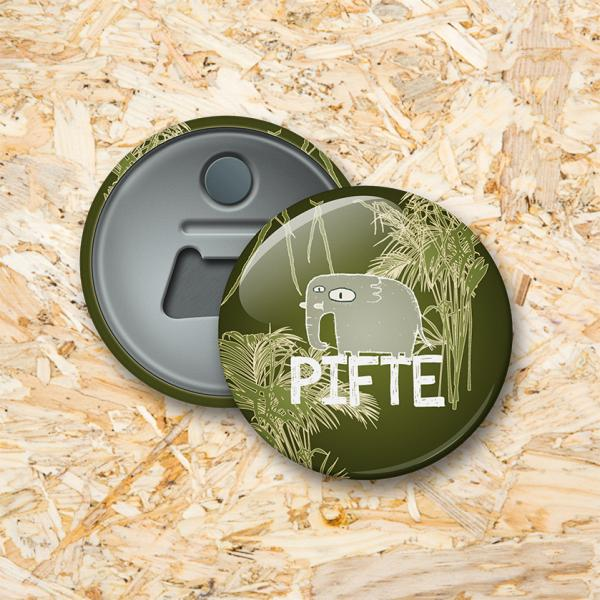 Jungle Button flesopener 56 mm